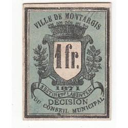 1 Franc billet de nécessité de MONTARGIS NEUF 1871