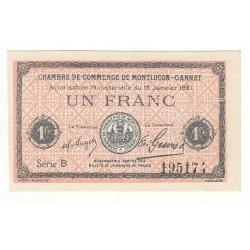 1 Franc Chambre de Commerce de MONTLUCON NEUF Pirot 58