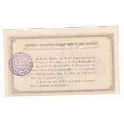 2 Francs Chambre de Commerce MONTLUCON-GANNAT ANNULE Pirot 19