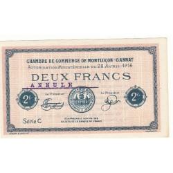 2 Francs Chambre de Commerce MONTLUCON-GANNAT ANNULE Pirot 27