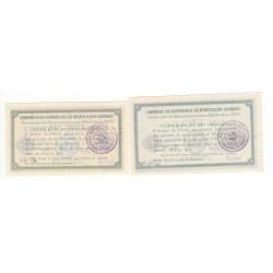 Lot de 2 Billets Chambre de Commerce MONTLUCON Pirot 21 et 23