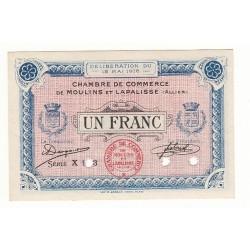 1 Franc Chambre de Commerce MOULINS et LAPALISSE SPECIMEN Pirot 6