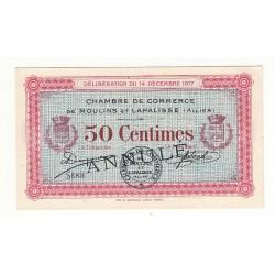 50 Centimes Chambre de Commerce MOULINS et LAPALISSE ANNULE Pirot 12