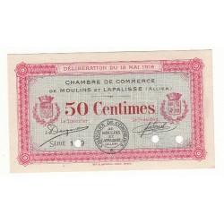 50 Centimes Chambre de Commerce MOULINS ET LAPALISSE SPECIMEN Pirot 2