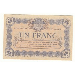 1 Franc Chambre de Commerce NARBONE Pirot 30