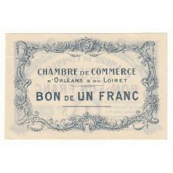 1 Franc Chambre de Commerce d'Orléans et Loiret Spécimen 1914 Pirot 2