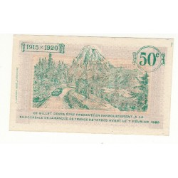 50 Centimes Chambre de Commerce de TARBES ANNULE NEUF 1915 Pirot 3