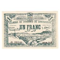 1 FRANC CHAMBRE DE COMMERCE DE CONSTANTINE 20-11-1922 NEUF TRES RARE