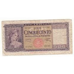 500 LIRE 1948