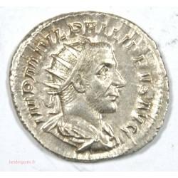 Antoninien de l' Empereur Philippe l' Arabe, 244 Ap JC. La joie