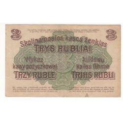LITHUANIE 3 RUBEL 1916