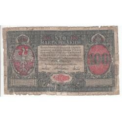 POLOGNE 100 MAREK 1916