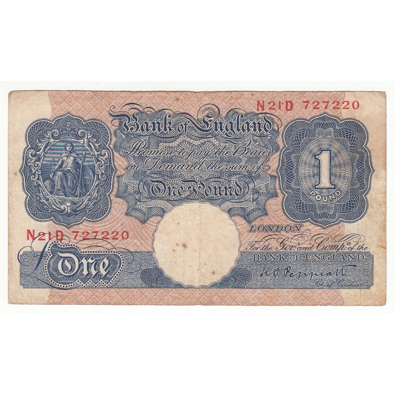 ROYAUME UNI 1 Pound 1934-39 Pick 363c