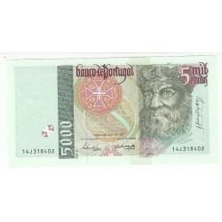 PORTUGAL 5 000 ESCUDOS 1998 NEUF