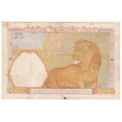 AFRIQUE FRANCAISE LIBRE 25 FRANCS 1941 TB+