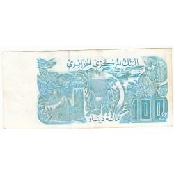 ALGERIE 100 DINARS 1982 TTB  FAUTE P.134