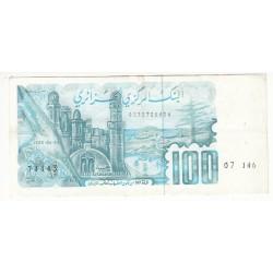 ALGERIE 100 DINARDS 1982 TTB FAUTE P.134