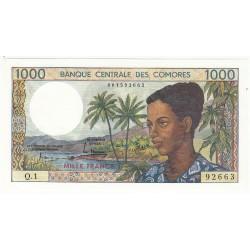 COMORES 1000 FRANCS NEUFS