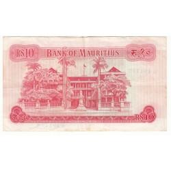 MAURITIUS 10 RUPEES Pick 31c
