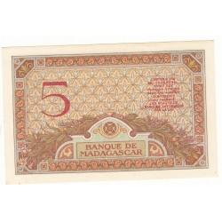 MADAGASCAR 5 Francs 1937 NEUF