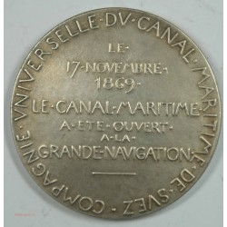 Médaille Ouverture à la navigation du canal de SUEZ 1869 variante (1)