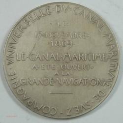 Médaille Ouverture à la navigation du canal de SUEZ 1869 TTB Argent (2)
