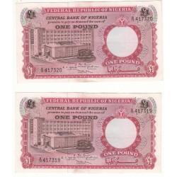 Nigeria 1 Pound 1968 Pick 12b