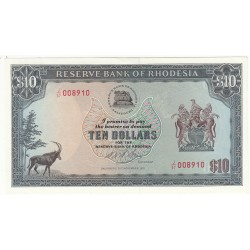 RHODESIA 10 DOLLARS 1975 NEUF