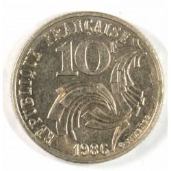 10 francs 1986 pointe de la France touchant le listel