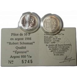 10 Francs Robert Shumann 1986 qualité Epreuve + nomal
