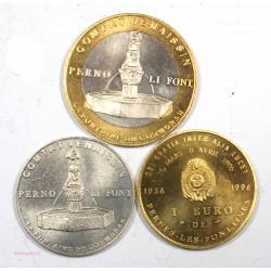 Monnaie des Villes - 1 + 3 + 10 euro de Pernes les Fontaines 1996