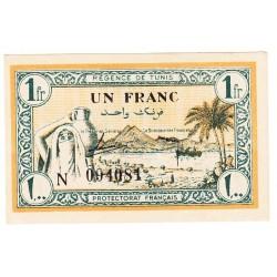 TUNISIE 1 FRANCS REGENCE DE TUNIS
