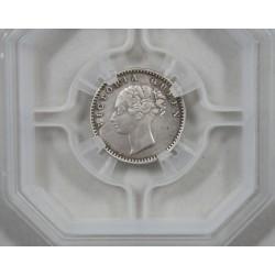 "EAST INDIA COMPAGNY – 1/4 de Rupee 1840 s Victoria Queen ""geni"""