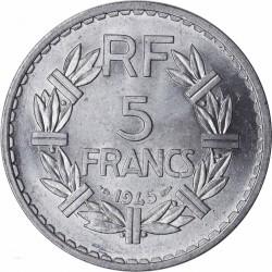 """LAVRILLIER - 5 FRANCS 1945 """"MS 63"""" SPL F.339/3"""