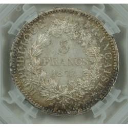 """HERCULE - ECU de 5 Francs 1873 A Paris """"MS61 Géni """""""
