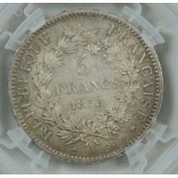5 Francs 1873 A Paris, République Française - Hercule SUP+