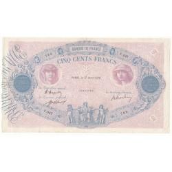 500 FRANCS BLEU ET ROSE 17 Avril 1920 TB