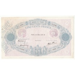500 FRANCS BLEU ET ROSE 24 Mars 1938 TB+