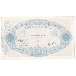 500 FRANCS BLEU ET ROSE 30 Juin 1938 TTB