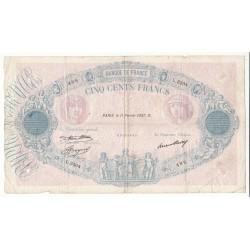 500 FRANCS BLEU ET ROSE 6 Août 1936 TB