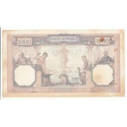1000 FRANCS CERES  ET MERCURE 23 Juillet 1927 TB