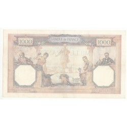 1000 FRANCS CERES  ET MERCURE 2 Juin 1932 TTB+