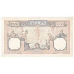 1000 FRANCS CERES  ET MERCURE 27 Octobre 1938 SPL+