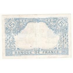 5 FRANCS BLEU 9 Mai 1913 TTB  Fay: 2-17