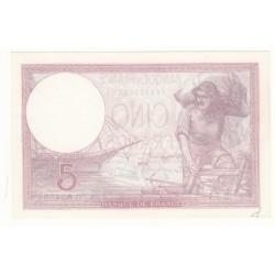 5 FRANCS VIOLET 28 Septembre 1939 SPL