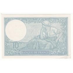 10 FRANCS MINERVE 17 Août 1939  SPL
