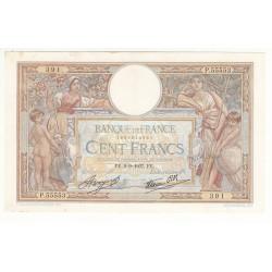 100 FRANCS LUC OLIVIER MERSON 9 Septembre 1937 P/SUP