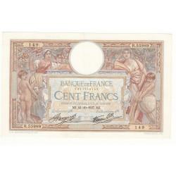 100 FRANCS LUC OLIVIER MERSON 21 Octobre 1937 SUP