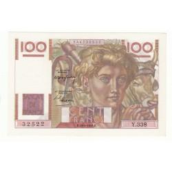 100 FRANCS JEUNE PAYSAN 19 Mai 1949 SPL