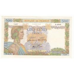 500 FRANCS LA PAIX 12 Février 1942 SPL+